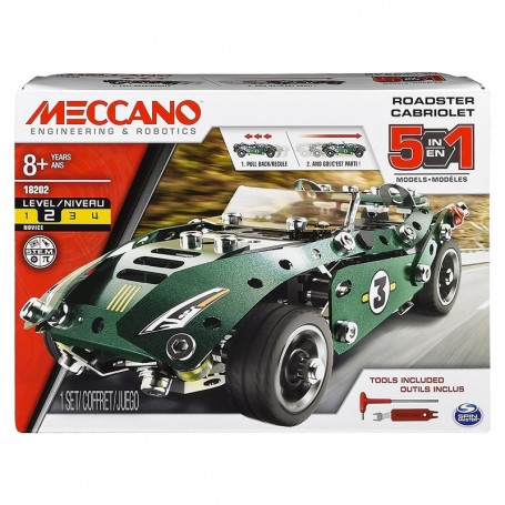 - MECCANO MULTI MODELLO DA 5 VEICOLO A RETROCARICA ROADSTER SPIN MASTER 6040176/2