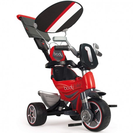 TRIKE 2 IN 1 BODY SPECIAL RED WITH CANOPY AND PARENTAL HANDLE INJUSA 325