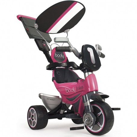 TRIKE 2 IN 1 BODY PINK WITH CANOPY AND PARENTAL HANDLE INJUSA 3252