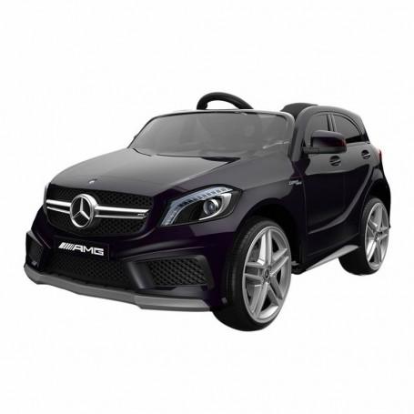 - AUTO ELETTRICA PER BAMBINI MERCEDES A45 AMG NERA CON TELECOMANDO 12V ING MP3,SD E LED 866/2