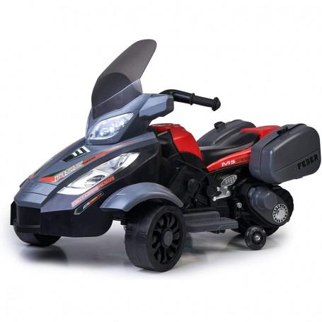 MOTO ELETTRICA PER BAMBINI TRIMOTO MOTORSPIDER 3 RUOTE, 12V, VALIGIE LATERALI FMS 800012840