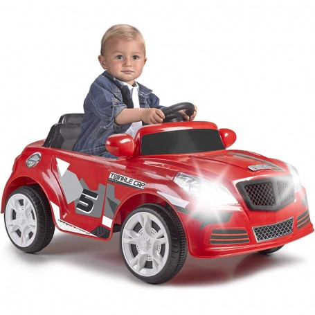 AUTO ELETTRICA PER BAMBINI TWINKLE CAR ROSSA 12V CON RADICOMANDO E LUCI FMS 800012263