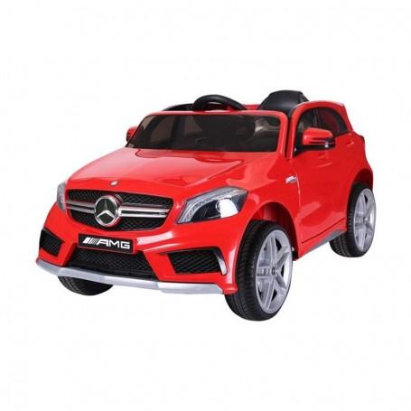 - AUTO ELETTRICA PER BAMBINI MERCEDES A45 ROSSA AMG CON TELECOMANDO 12V ING MP3, SD E LED 866/2