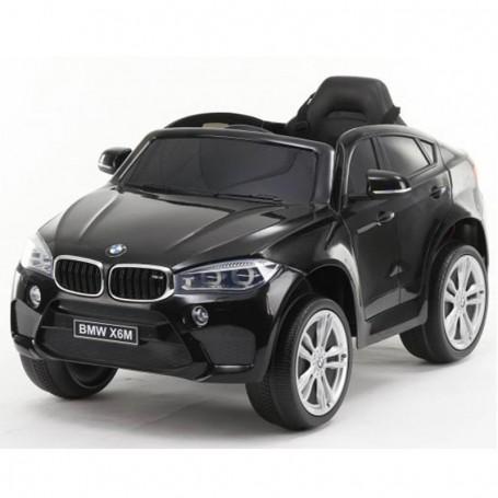 AUTO ELETTRICA PER BAMBINI BMW X6M NERA R/C 12V 2,4 GHZ SEDILE IN PELLE ING. MP3, E LED