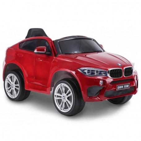 AUTO ELETTRICA PER BAMBINI BMW X6M ROSSA R/C 12V 2,4 GHZ SEDILE IN PELLE ING. MP3, E LED
