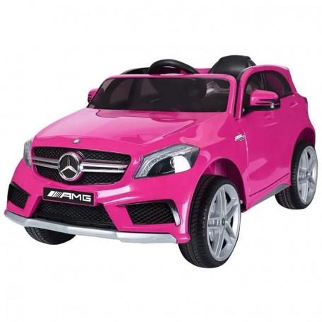 AUTO ELETTRICA PER BAMBINI MERCEDES A45 AMG ROSA CON TELECOMANDO 12V ING MP3,SD E LED 866/2