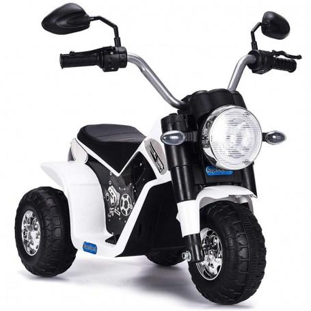 MOTO ELETTRICA PER BAMBINI BABY BIANCA 6V CON SUONI E LED LMT LT889