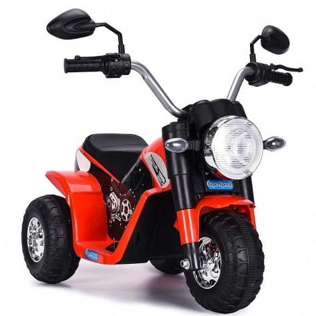 MOTO ELETTRICA PER BAMBINI BABY ROSSA 6V CON SUONI E LED LMT LT889