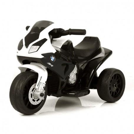 - MOTO ELETTRICA PER BAMBINI BMW S1000 RR NERA A 3 RUOTE CON SUONI E LED LMT LT883/236