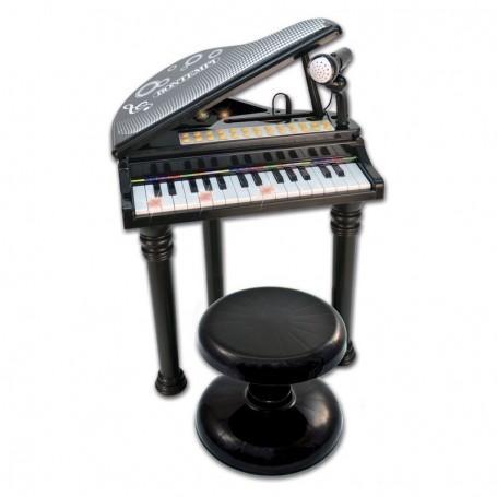 - PIANOFORTE A CODA ELETTRONICO 31 TASTI CON MICROFONO E SGABELLO BONTEMPI 103000
