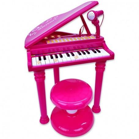 - PIANOFORTE A CODA IGIRL ELETTRONICO 31 TASTI CON MICROFONO E SGABELLO BONTEMPI 103072