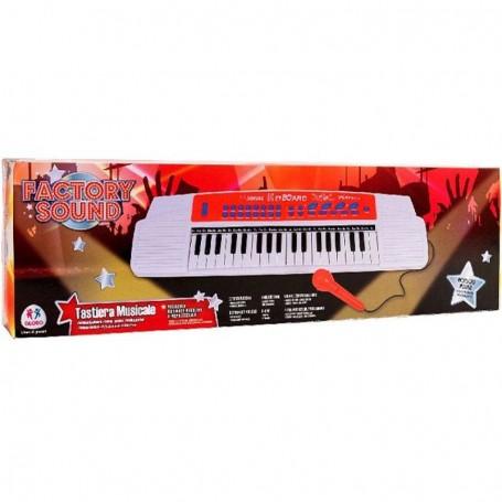 - PIANOLA 37 TASTI CON MICROFONO 6 MELODIE SUONI E BASI MUSICALI GLOBO 32478