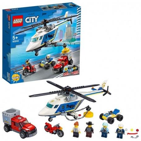 INSEGUIMENTO SULL'ELICOTTERO DELLA POLIZIA LEGO CITY 60243/12