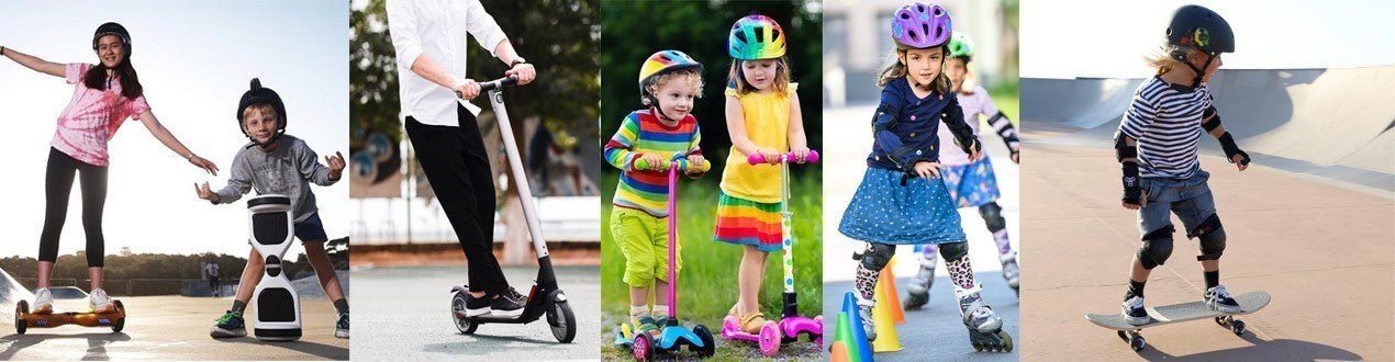 Skates, Scooters and Skateboards